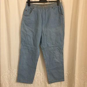 Women's cotton denim jeans pants 12 Vintage